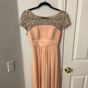 Light pink, jeweled prom dress